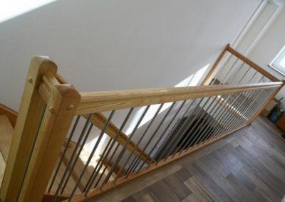 Treppengeländer mit Eisenstäben