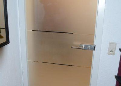Glastüre in der Wohnung